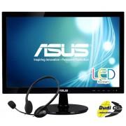 Asus 19 led monitor VS197DE VGA + slušalice MS HS-103