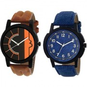 TRUE CHOICE NEW CHOICE NEW 2 SIMPLE SOBER LOOK WATCHES FOR MEN N BOYS WITH 6 MONTH WARRANTY