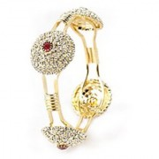 VK Jewels Sparkle Gold Plated Bangles- BG1022G