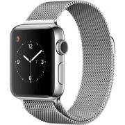 Apple Watch Series 2 38mm ocel se stříbrným milánským tahem - SLEVA