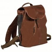 vidaXL barna valódi bőr hátizsák