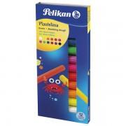 Plastelin 12boja 120g karton Pelikan 602334 neon 000037841