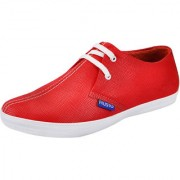 Fausto MenS Red Sneakers Lace-Up Shoes (FST K6027 RED)