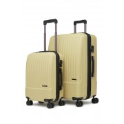 CALPAK LUGGAGE Davis 2-Piece Spinner Hardside Luggage Set KHAKI