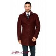Palton Barbati Antonio Gatti Grena Office Lung din Lana Cotta B161 Lov 48