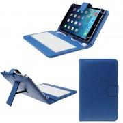 Husa Tableta 10 Inch Cu Tastatura Micro Usb Model X , Albastru , Tip Mapa
