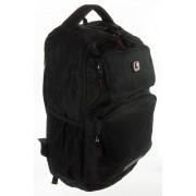 2+2 részes fekete textil hátizsák Adventurer