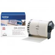 BANDA CONTINUA HARTIE 102MM BLACK ON WHITE DK22243 ORIGINAL BROTHER P-TOUCH QL-1050