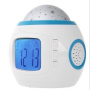 Music LED Star Sky Projection Light Digital Alarm Clock Calendar