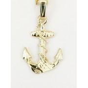 Visserijsieraden Gouden hanger anker met kabel