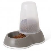 savic Distributore di crocchette Savic Loop - grigio brunastro - 1,5 l, L 26 x P 17,5 x H 23 cm
