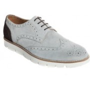 WAYNE WRIGHT Genuine Suede Leather Lightweight Derby Brogue Shoes Brogues For Men(Grey, Brown)