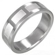 Matt mintás, ezüst színű nemesacél gyűrű ékszer