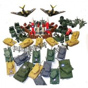 Ultimate 250 Pcs Army Military Play Set with Jet Fighters Cannons Missile Silos