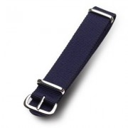 Smart 18MM 20MM Military Nylon Wrist Band Strap For Watch Stainless Steel Buckl