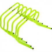 SAS Agility Training Hurdles for Speed Training Set of 6 Durable and Water proof - 12 Inch Agility Hurdles