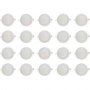 Bene LED 12w Round Slim Panel Ceiling Light Color of LED White (Pack of 20 Pcs)