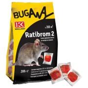 Отрова за плъхове и мишки РАТИБРОМ 2 - 200 гр