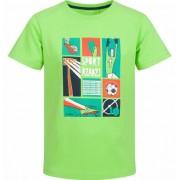 Endo T-shirt z krótkim rękawem dla chłopca, z motywem piłki nożnej, zielony, 2-8 lat