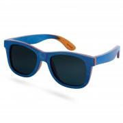 Paul Riley Blaue Polarisierte Skateboard Holz Sonnenbrille