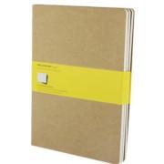 Moleskine - Notes 3 ks - čtverečkovaný, béžový XL