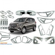 Car Chrome Accessories combo kit for Ertiga new by Fireplay. Full Exterior car accessories (long-lasting chrome 24Pcs)