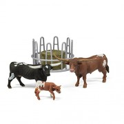 Schleich Texas Longhorn Family On The Pasture Figurine Toy Play Set, Multicolor