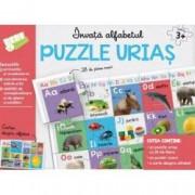 Invata alfabetul. Puzzle urias 28 de piese mari