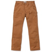 Carhartt Washed Duck Double-Front Work Dungaree Pantalones Marrón 34