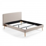 Kave Home Cama Dyla 150 x 190 cm bege