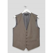 Taylor Mens Taylor & Wright Fulton Suit Waistcoat in Small, Taupe