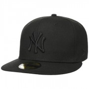 New Era 59Fifty Black on Black Yankees Cap MLB Kappe Fitted Flat Brim Flatbrim NY New York