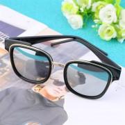EY Gafas De Sol De La Película De Color Brillante En Blanco Y Negro De Mercurio-Black/White Sliver