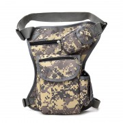 Multi-purpose Outdoor Sport Bike Cycling Leg Bag Canvas Waist Bag Thigh Tactical Bag - Digital Camouflage