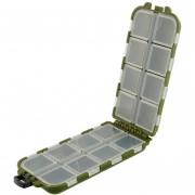 Duola 8 compartimentos caso pesca señuelo cuchara gancho cebo Tackle caja de almacenamiento útil de pescado