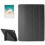 Apple iPad Pro 10.5 inch horizontaal Lamshuid structuur PU leren ENKAY Flip Hoesje met drievouws houder en slaap / ontwaak functie (zwart)