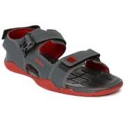 Reebok Mens Grey/Black Velcro Sandals