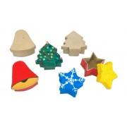 prohobb Pappdosen Stern, Baum und Glocke, 6 Stück