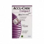 Accu-Chek Compact strisce reattive per la misurazione della glicemia confezione 50 +1