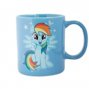 My Little Pony Blauwe My Little Pony mok/drinkbeker Rainbow Dash 320 ml