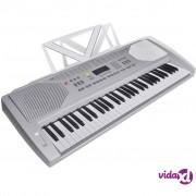 vidaXL Električna klavijatura sa 61 tipkom i držačem za note