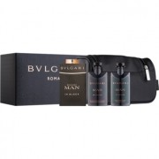 Bvlgari Man In Black coffret VIII. Eau de Parfum 100 ml + bálsamo after shave 75 ml + gel de duche 75 ml + bolsa de cosméticos