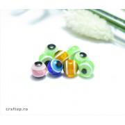 Mărgele rotunde ochiul norocului (100g)