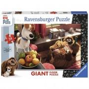 Ravensburger puzzle da pavimento - la vita segreta dei pets - 24 pz giant