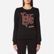 Love Moschino Women's Large Love Logo Sweatshirt - Black - IT 44/UK 12 - Black