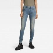 G-star RAW Femmes Midge Zip Mid Skinny Jeans Bleu moyen