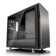 Кутия Fractal Design Define R6 USB-C Gunmetal – TG, mATX, ATX, ITX, EATX, USB 3.1 Gen 2 Type-C, черна, без захранване