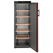 Vitrina pentru vinuri Liebherr WTr 4211, 377 L, 200 sticle, Rafturi de lemn, Control taste, Display, H 165 cm, Clasa A, Negru
