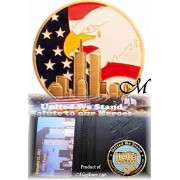 Mayflower CNF Coin &Leather HolderNever Forget Fallen Officer From 911 Terrorist AttacksSalute to our Police Officers and Firefighters, Let Freedom Ring, United We StandLimited Edition