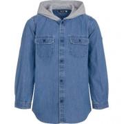 Endo Koszula jeansowa z kapturem dla chłopca 9-13 lat